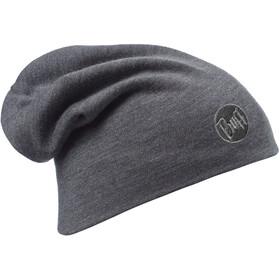 Buff Heavyweight Merino Wool Hat solid grey